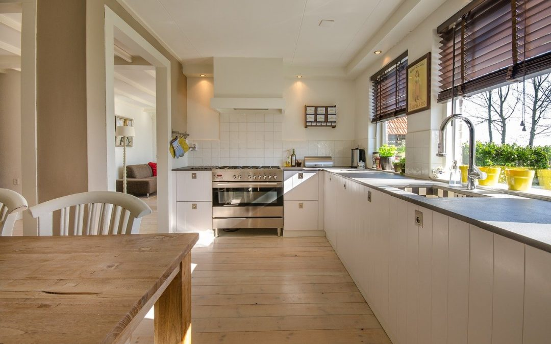 interior of a home's kitchen